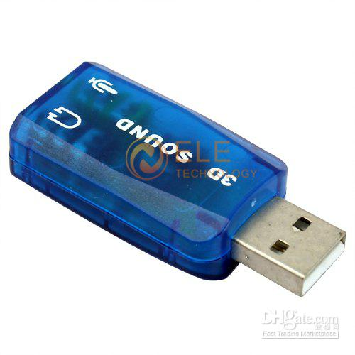 3D USB Sound Card Adapter
