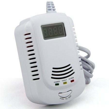 Home Kitchen Security Combustible Gas Detector LPG LNG Coal Natural Gas Leak Alarm Sensor With Voice Warning Alarm Safety