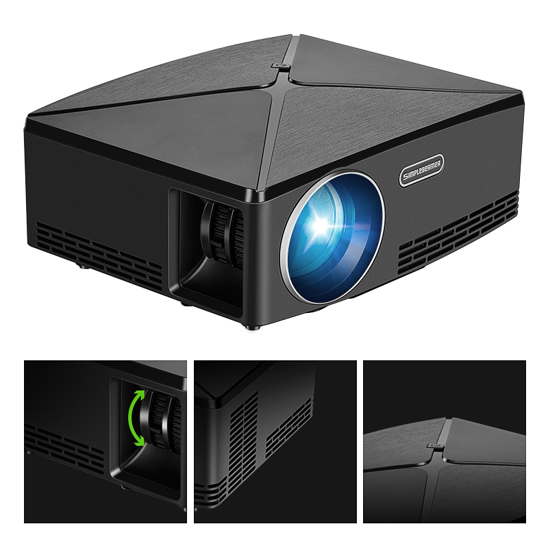 AUN MINI Projector C80 UP, 1280×720 Resolution, Android WIFI Proyector, LED Portable HD Beamer for Home Cinema, Optional C80 Rated 5.0 /5 based on 47 customer reviews  5.0 (47 votes)