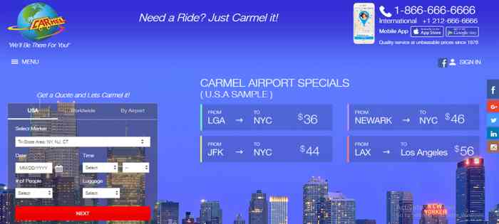 NYC Limo & Car Service | NYC's Corporate Car Service @Carmellimo